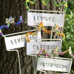 Stamped and Beaded Garden Markers