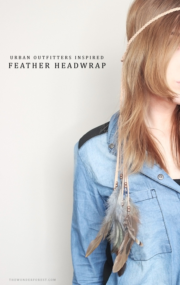 Urban Outfitters hack suede-feather-headband- by the wonder forest