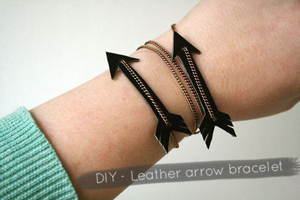 diy-leather-arrow-bracelet by Wilma