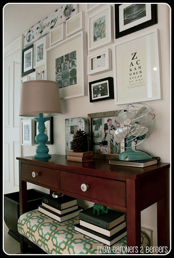 gallery wall tutorial by from gardners 2 bergers