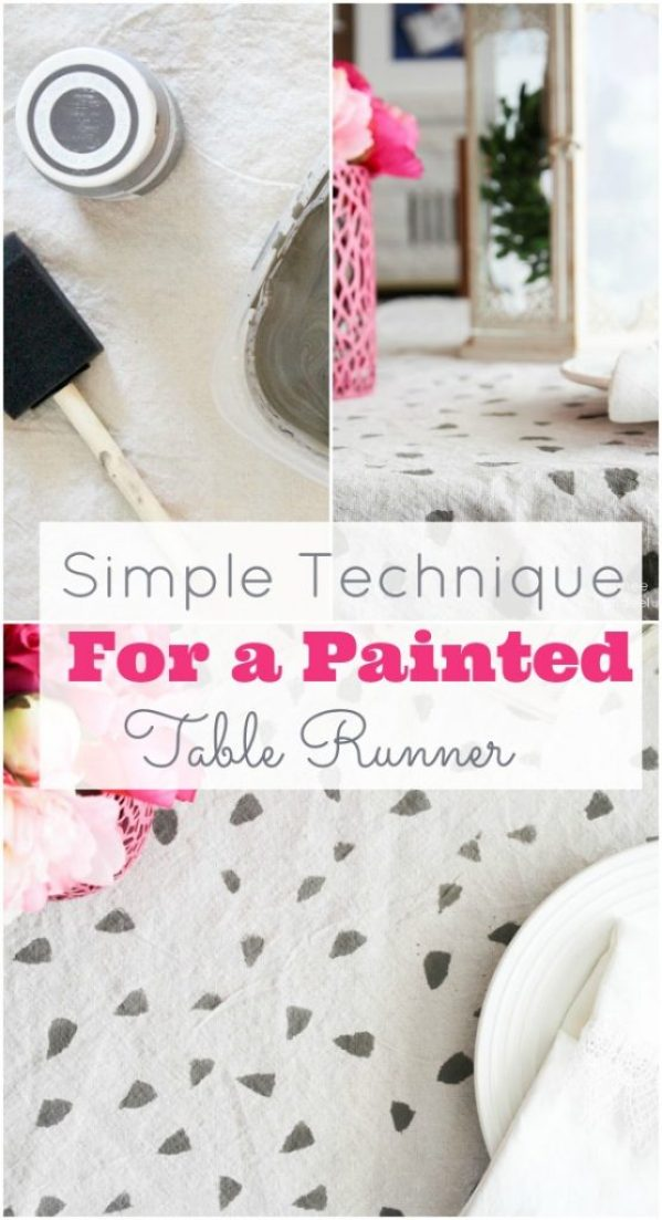 geometic table runner using chalk paint diy tutorial landee title