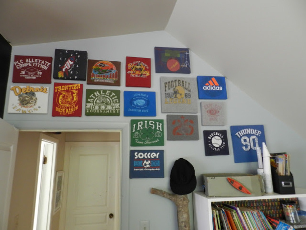 use old tshirts by the not so blank canvas