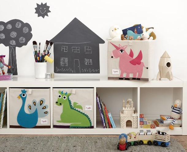 Animal Toy Storage Bins via Amazon
