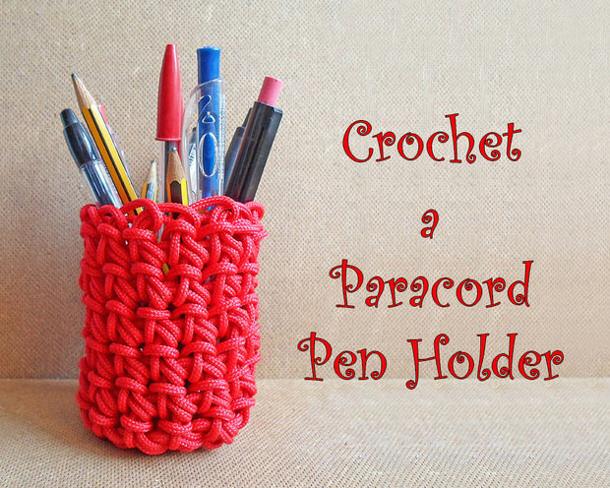 Paracord-Crochet-Pen-Holder