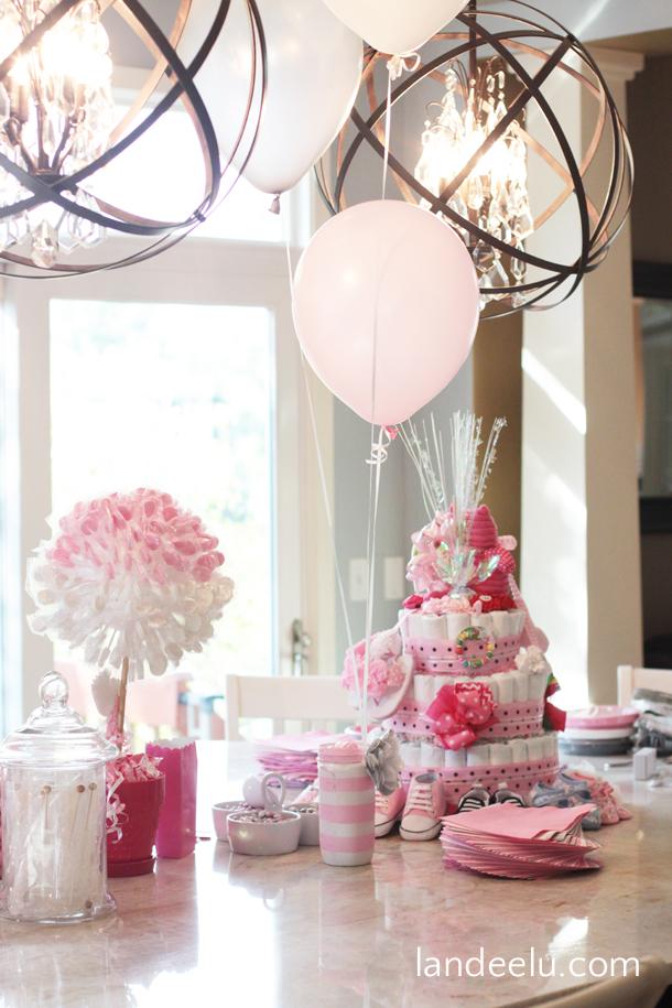 Pink and Grey Baby Shower landeelucom