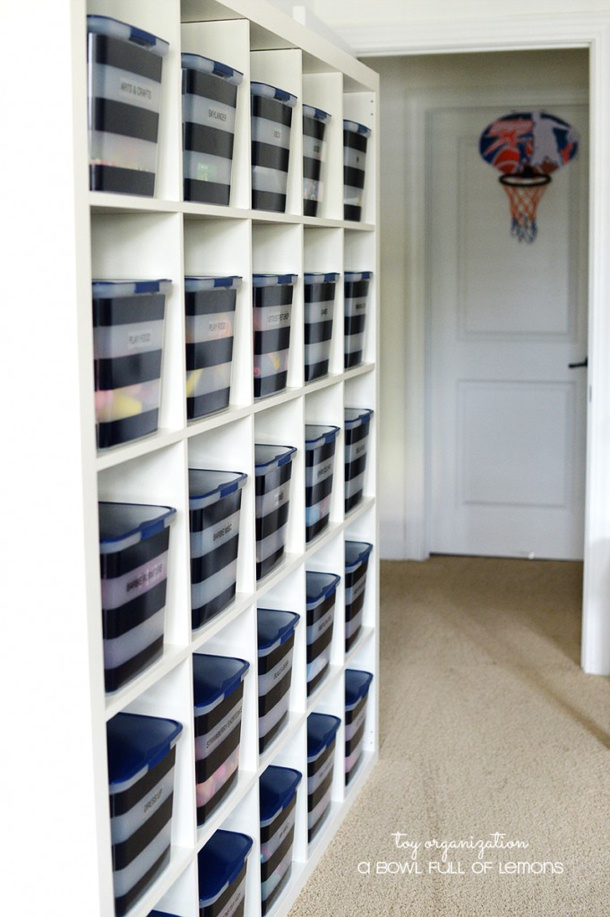 Genius Idea Ikea Expedit Shelves With Baskets For Storage: Toy Organization Ideas