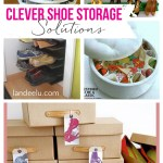 Clever Shoe Storage Solutions | landeelu.com A girl has got to have her shoes! :) #shoeorganization #shoestorage #closets #closetorganization