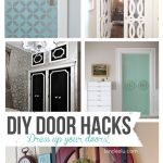 DIY Door Hacks | landeelu.com Dress up a plain door to make it something special! Lots of fun ideas here.