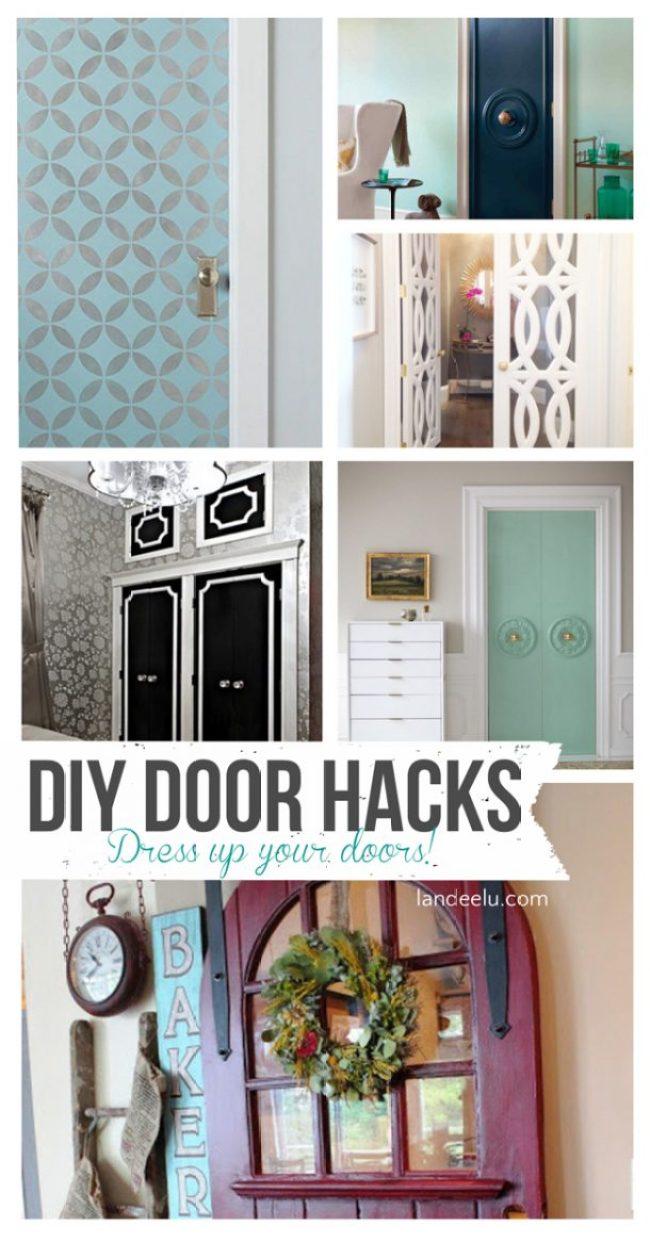 DIY Door Hacks |  landeelu.com  Dress up a plain door to make it something special!  Lots of fun ideas here.