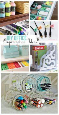 DIY Office Organization Ideas | landeelu.com