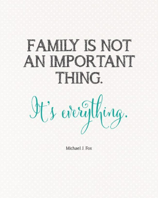 Family Is Everything Quote from Michael J. Fox | landeelu.com  Free Printable