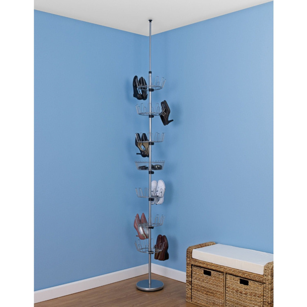 circular floor to ceiling shoe rack from Amazon