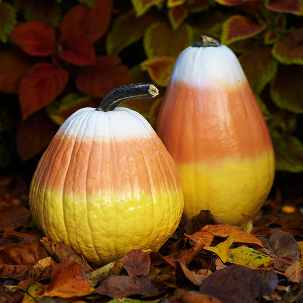 Candy Corn Pumpkins via Martha Stewart