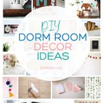Super fun DIY dorm room ideas! #diydormroomideas #dormroom #collegedorms #diyprojects