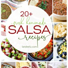 Get out the chips because I want to make each salsa recipe on this list! Chips and salsa are my favorite snack of all time! #salsa #homemadesalsa #salsarecipes #chipsandsalsa #snackrecipe