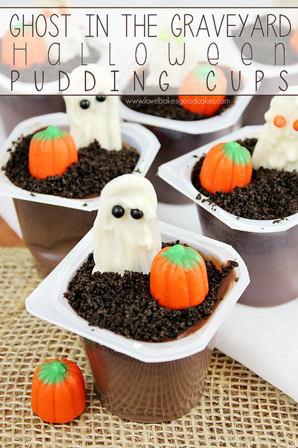 Ghosts in the Graveyard Pudding Cups