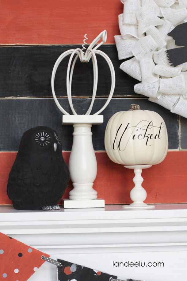 Handmade-Halloween-Mantel-Decor