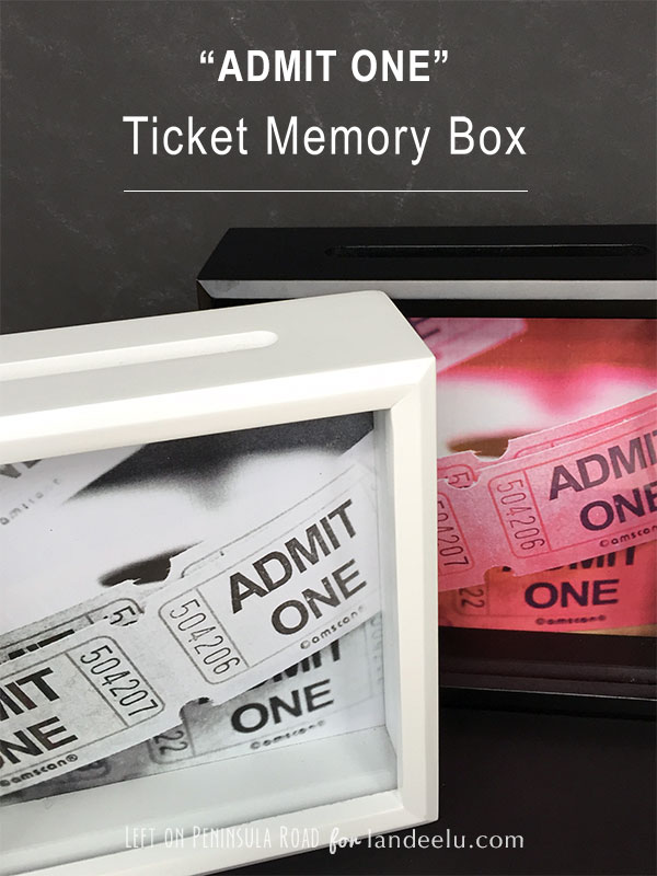 Ticket Memory Box DIY by Left on Peninsula Road for landed.com