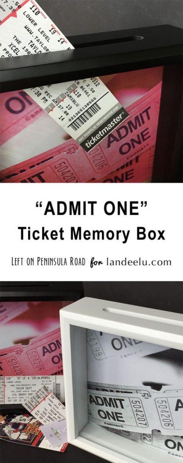 Ticket Memory Box DIY