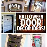 Halloween Door Decor Ideas | landeelu.com So many fun ideas to dress up the outside of your house for Halloween!