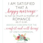 Happy Marriage Quote (free printable) | landeelu.com