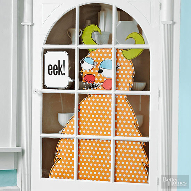 Monster Party Door Decoration FREE PATTERN via BHG