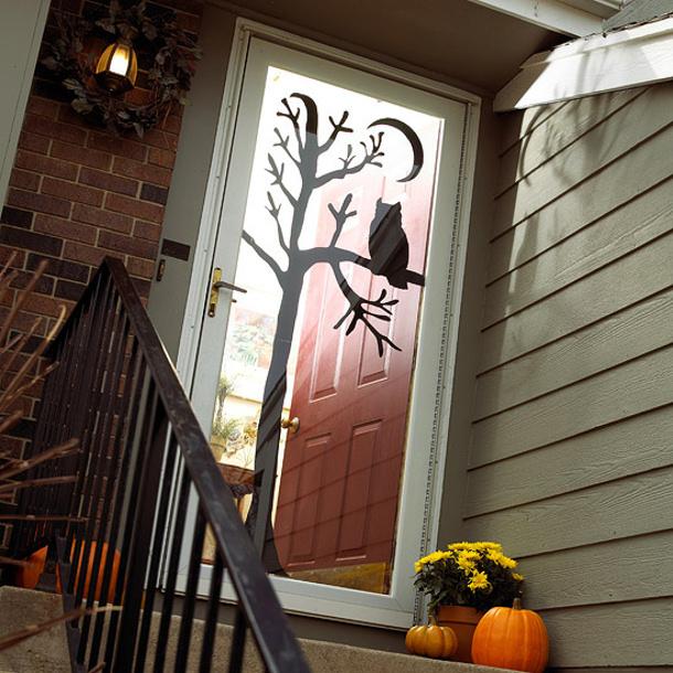 Owl-in-Tree Door Silhouette via BHG