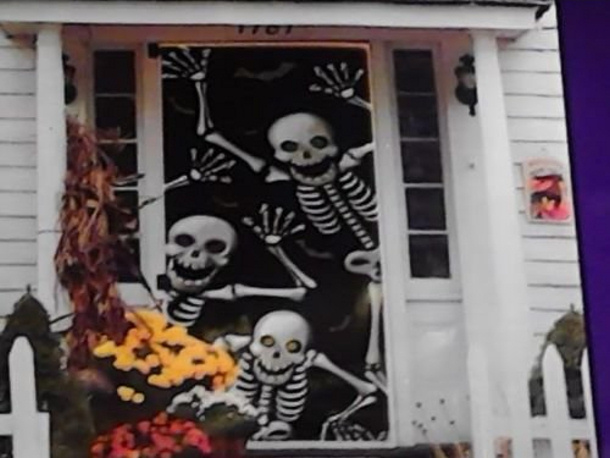 Skeletons door cover via Amazon