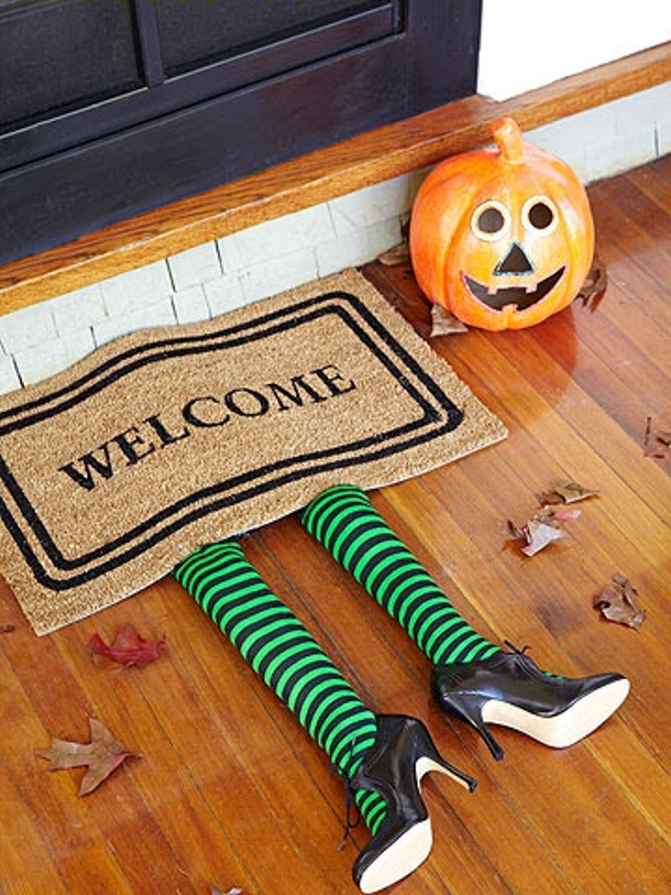 Witches Legs Doormat via Parents