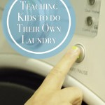 Teaching Kids to do their laundry