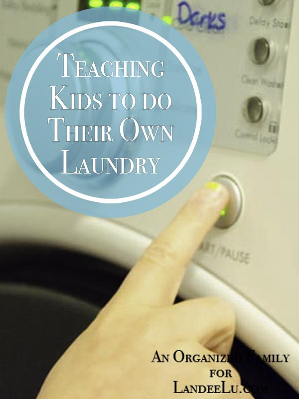 Teaching Kids to do their laundry