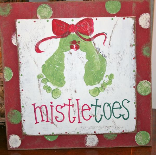 Mistletoes painting me happy