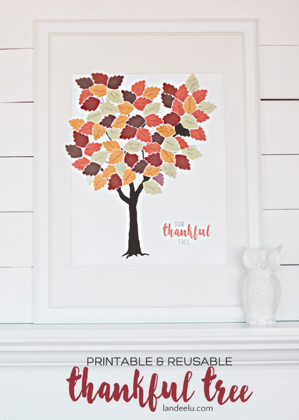image about Thankful Leaves Printable named Grateful Tree Printable
