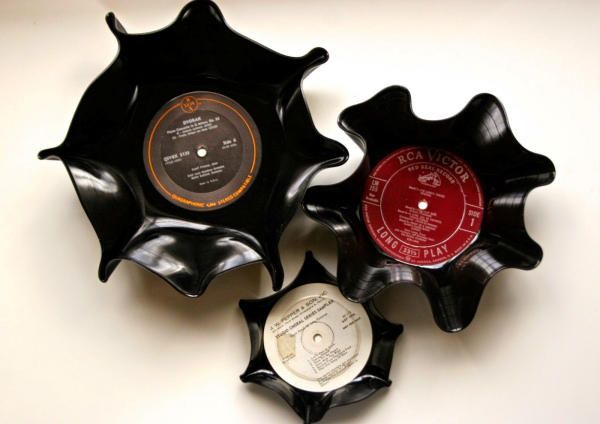 Vinyl Record Bowls The Surznick Common Room
