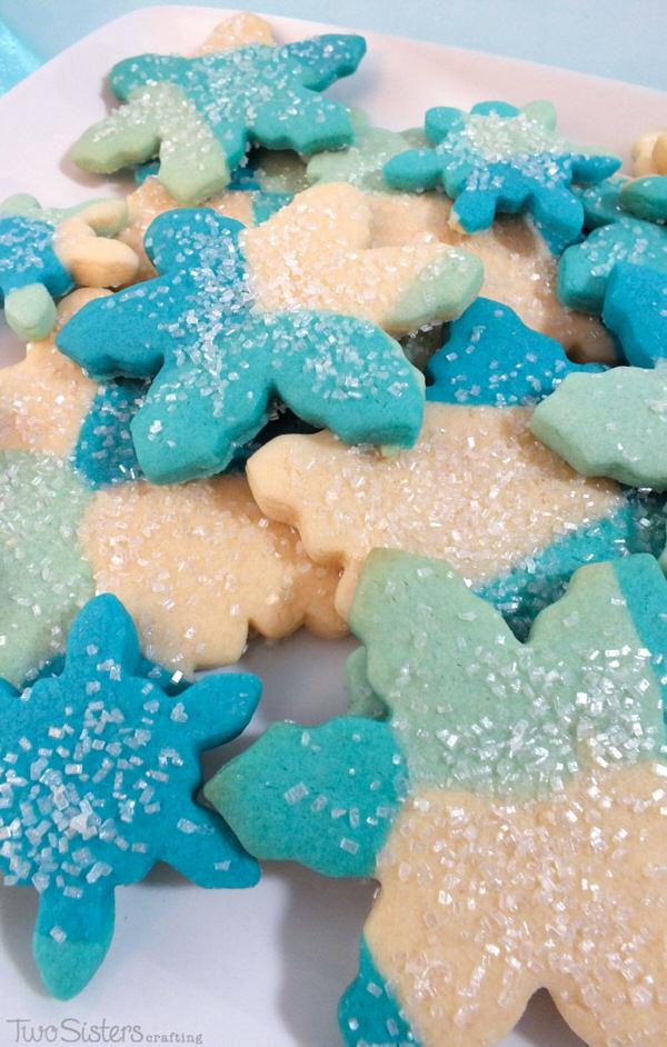 elsas-frozen-fractal-sugar-cookies3 two sisters crafting
