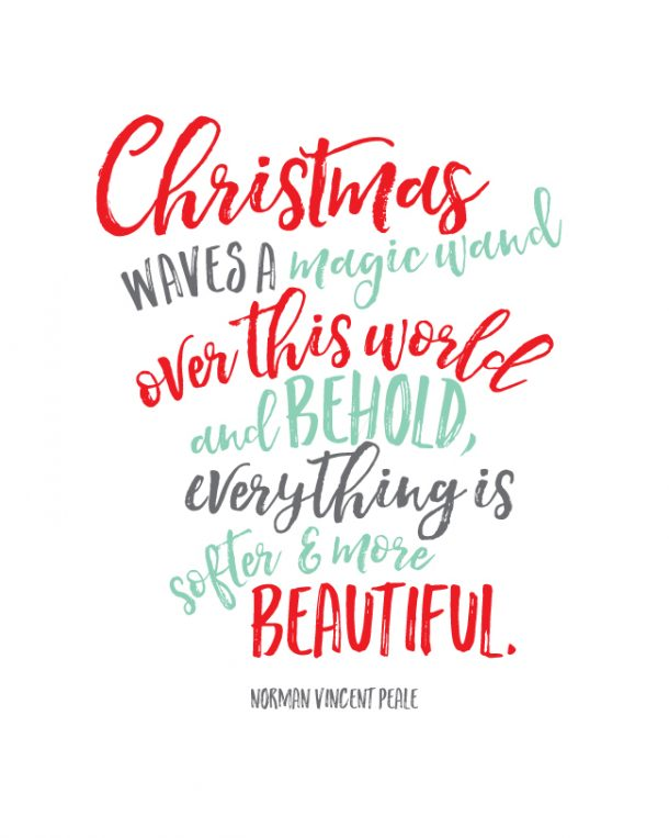Christmas Quote Art Free Printable | Landeelu