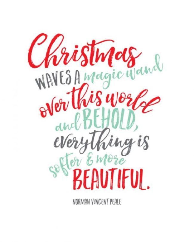 Beautiful Christmas Printable | landeelu.com
