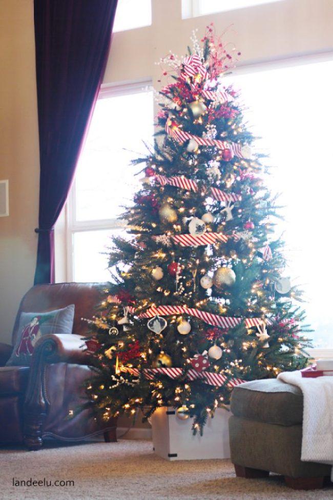 DIY Faux Christmas Tree Box