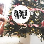 DIY (faux) Christmas Tree Box... an easy project to add some style to the base of your Christmas tree!