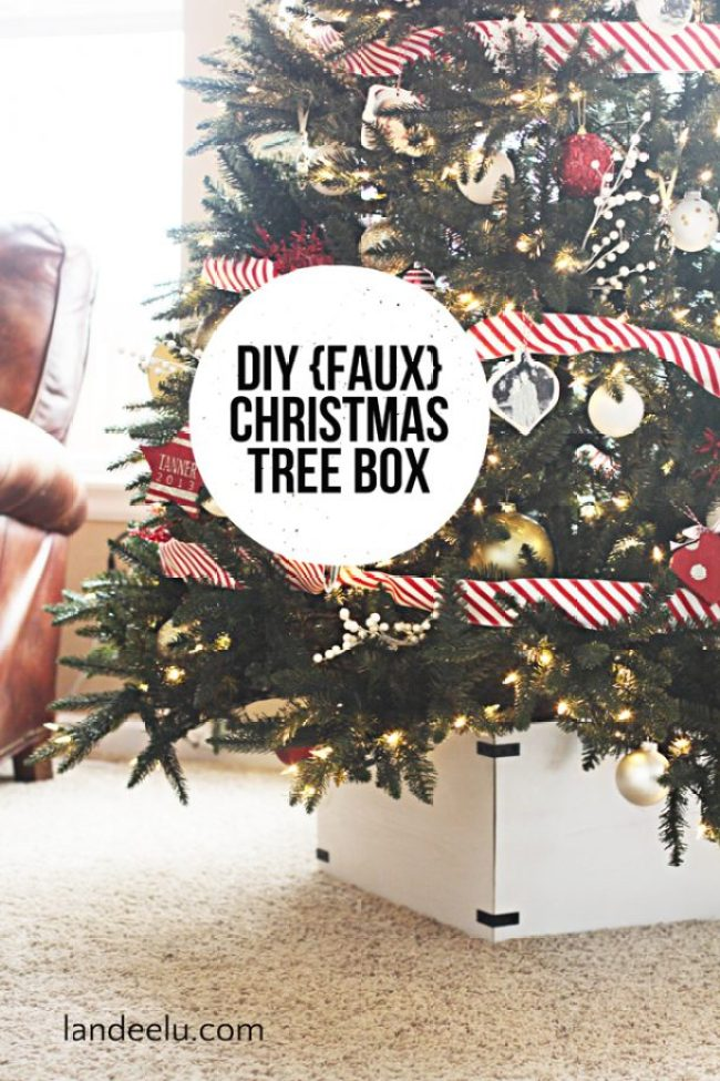 how to make a faux christmas tree shorter
