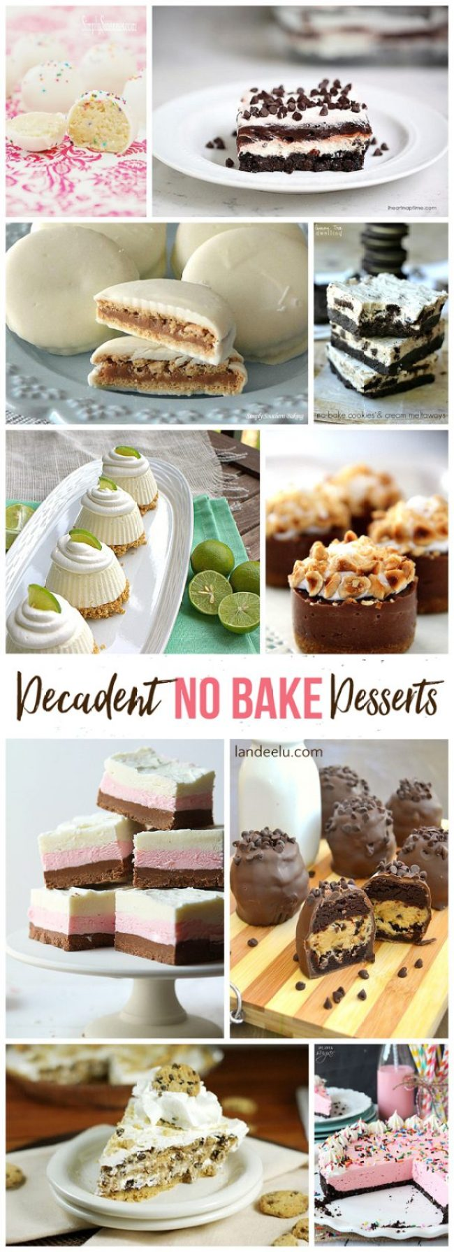 Decadent No Bake Dessert Recipes | landeelu.com