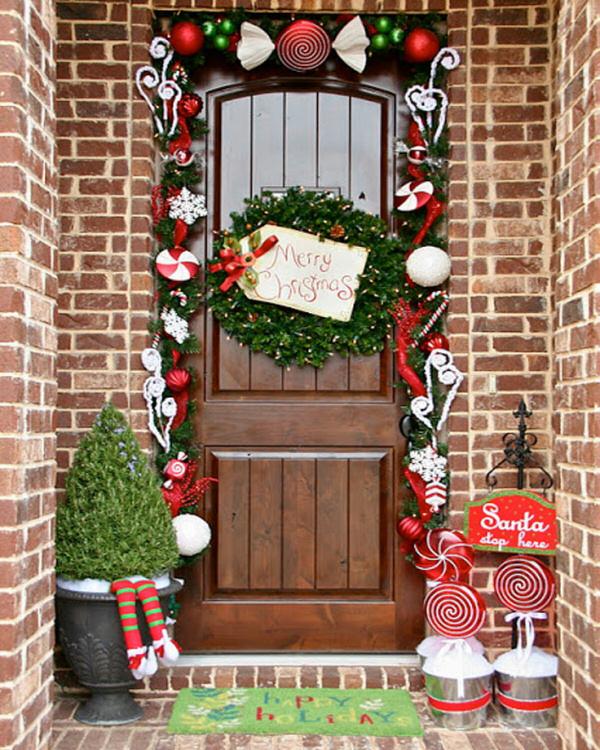 Garland Framed Front Door