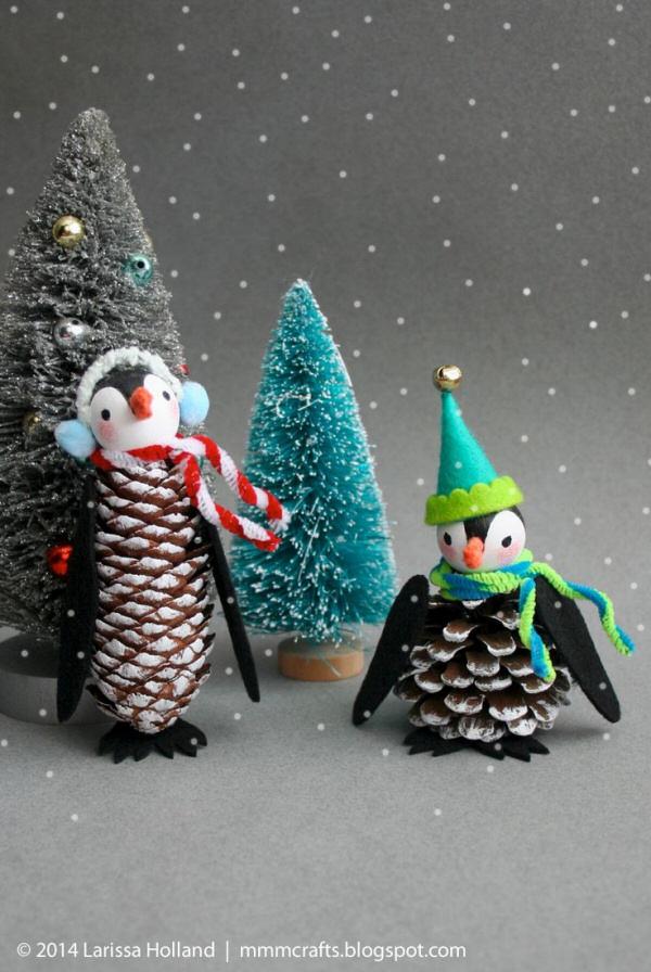 Pretty Winter Crafts Using Pinecones Landeelu Com