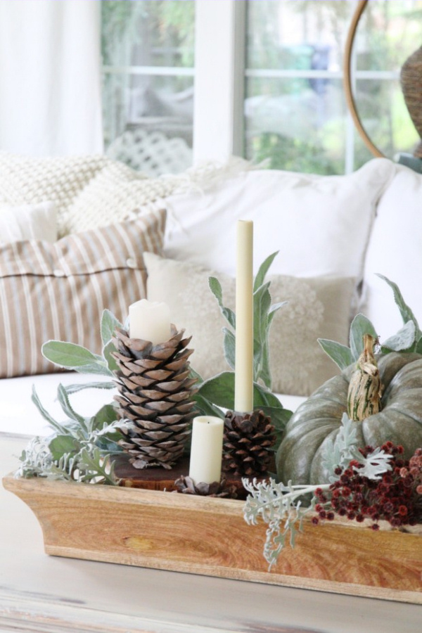 Pinecone Candle Holders craftberry bush