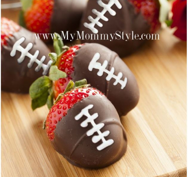 Chocolate Covered Strawberry Footballs My Mommy Style