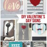 DIY Valentine's Day Signs | landeelu.com So many fun DIY signs to make for Valentine's Day!