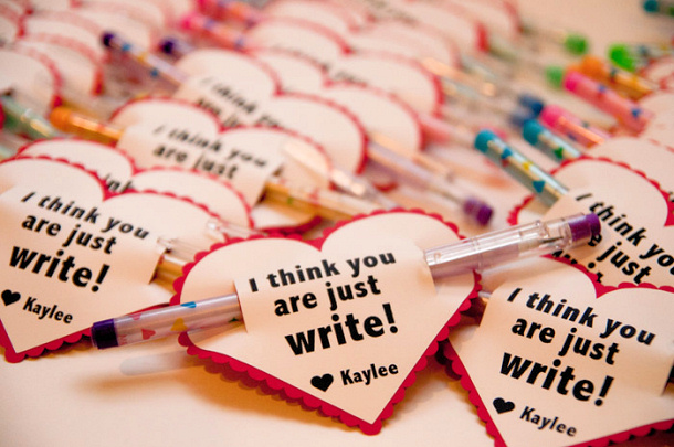 Doing something Write Pen Valentines