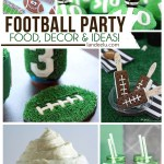 Football Party Food, Decorations and more great ideas! #superbowlideas #footballpartydecor #footballpartyideas #footballpartytheme