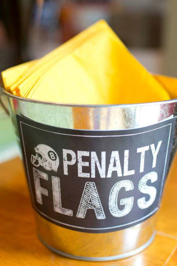 Penatly Flags Napkin Bucket Karas Party Ideas