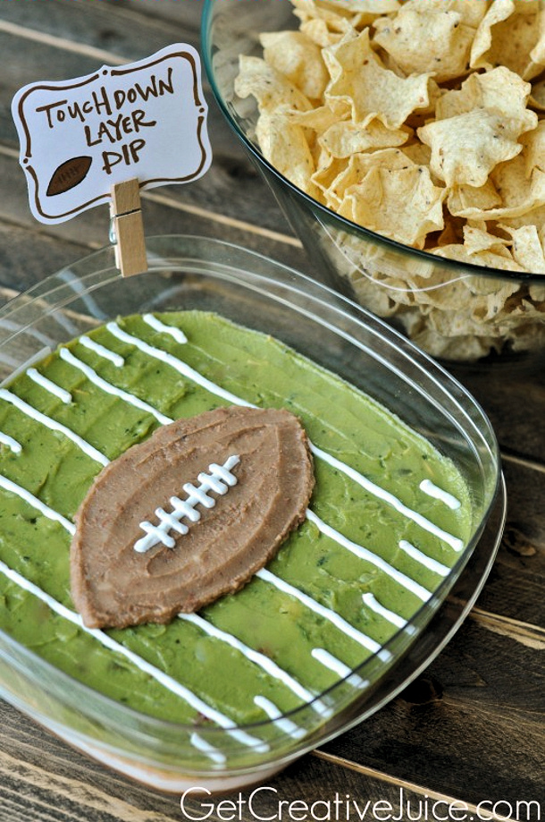 Touchdown layered dip get creative juic